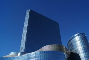 A tall corporate building you can move your office out with your movers Hackensack
