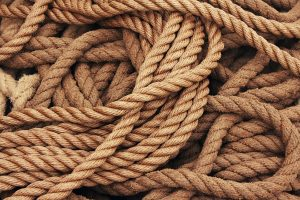rope coiled in a chaotic way