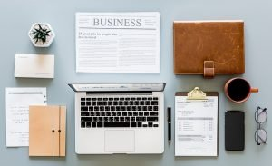 a business person's tidy desk