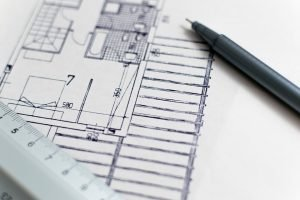 A floor plan. A smaller floor plan is a good way to lower home-building costs.