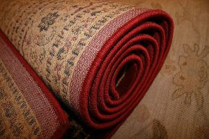 Red rug, properly pack rugs when moving