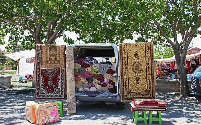 How to properly pack rugs when moving
