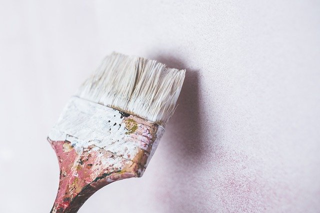 Paintbrush is all you need for a cheap bathroom remodeling.
