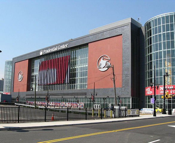Prudential Center - a potential workplace after buying a house in Newark.