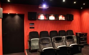 Picture of huge home cinema for several people