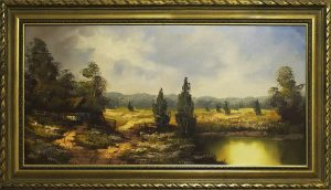 Picture of a painting of a landscape