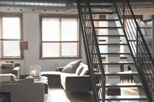 A flat with stairs