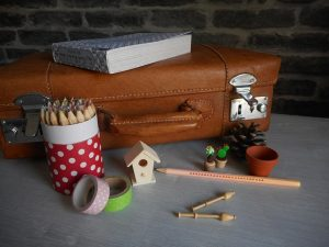 A luggage and small items