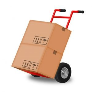 Negotiating a location package- two boxes on a hand trolley