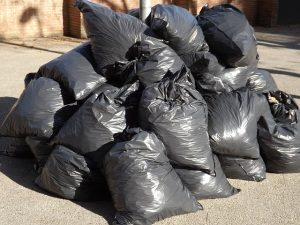 Trash bags that you need to remove before your NJ movers arrive