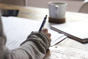 A hand write