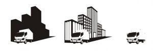 -illustration of moving trucks