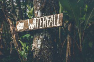 New Jersey Instagram spots- waterfall sign