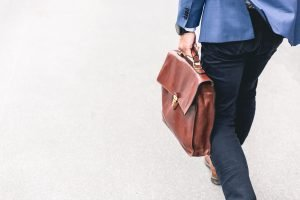A man with a briefcase- Hoboken lifestyle