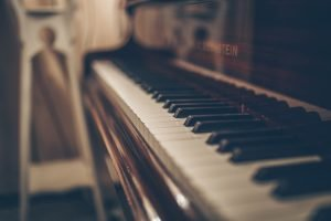 close-up of a piano
