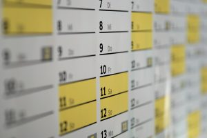 a calendar you can use to plan your Hackensack relocation