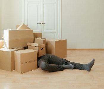 -moving boxes on the floor