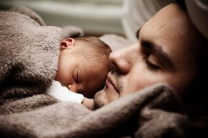 a baby sleeping