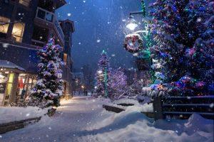 Street on Christmas