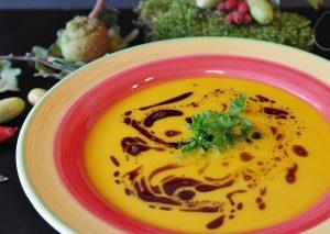 plate of pumpkin soup