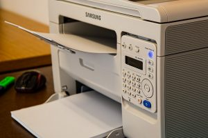 a copy machine you will use to copy your documents for a long-distance move