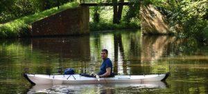 A man kayaking - fun things to do in Hackensack