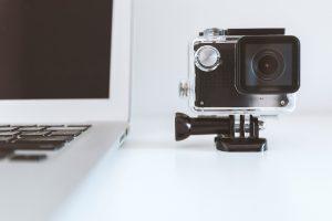 A go pro camera