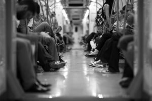 people sitting in the train