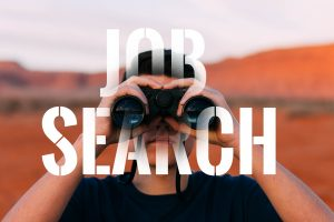 a person looking for a job