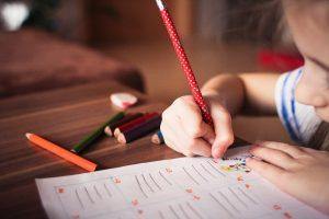 a child studing