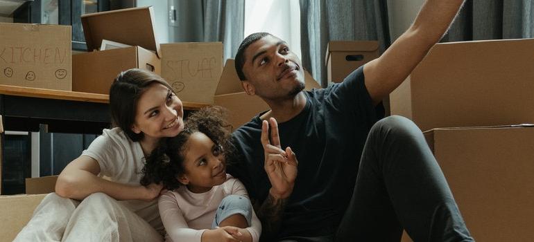 happy family choosing between Bloomfield vs Newark