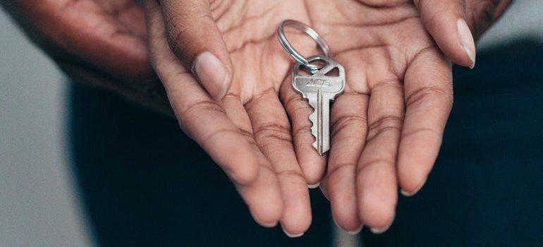 Key in palm